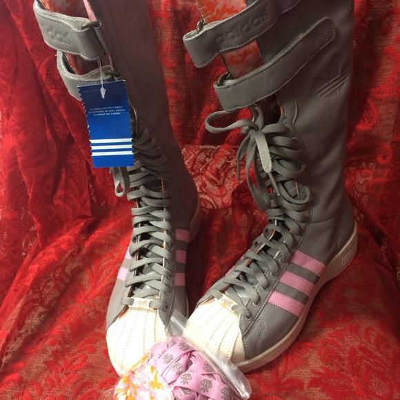 Adidas Missy Elliot Remix 3 Stripe Tall Boots NWT